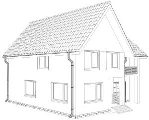 Beispiel Einfamilienhaus Umriss