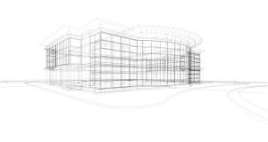 Beispiel Gewerbegebäude Umriss
